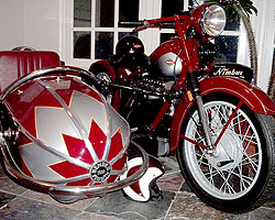 Mark Christoffersen's 1952 Nimbus with Bender-Florin Sidecar